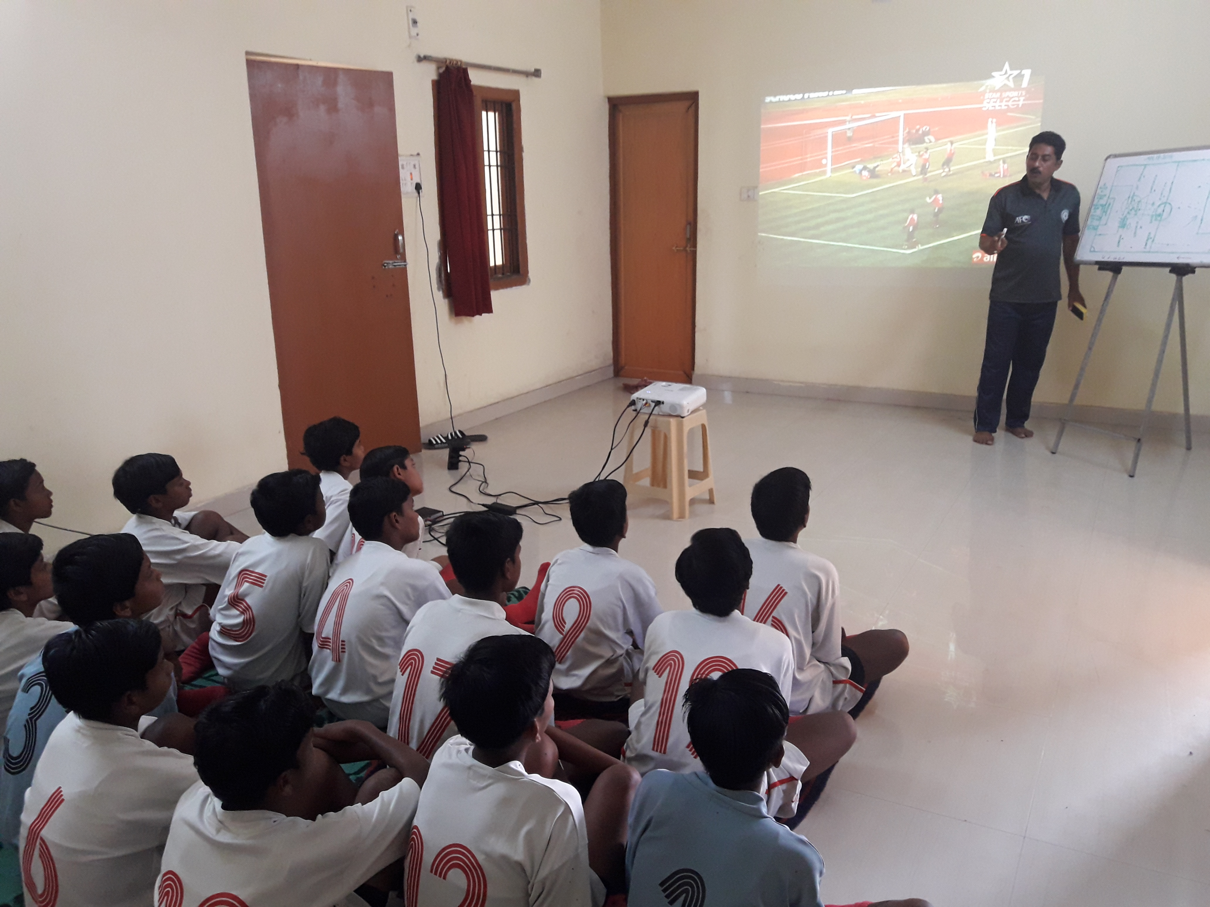 #JSSPS#FootballAcademy#Girls Team Having Pre Match Team Meeting #EkalavyaSportsAndSkillDevelopmentFoundation
